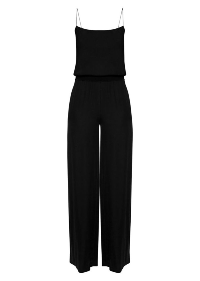 Theory Ribbed Spaghetti Strap Jumpsuit