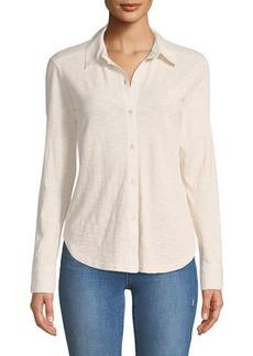 Theory Riduro C Nebulous Cotton Button-Front Shirt