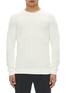 Theory Riland Pique-Knit Sweater
