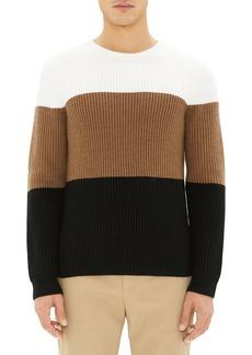 Theory Romman Colorblock Merino Wool Sweater