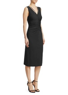 Theory Ruched Pull-On Sheath Dress