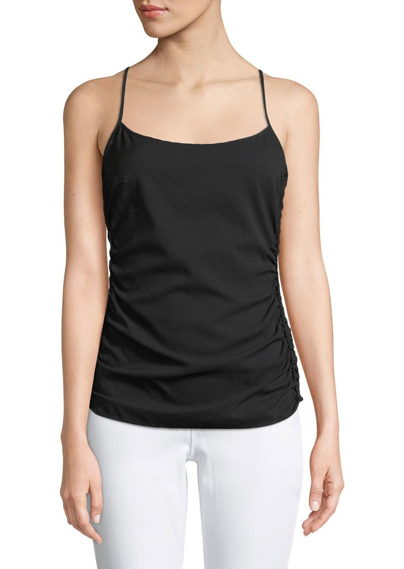 Theory Ruched-Side Stretch-Silk Cami