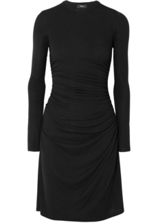 Theory Ruched Stretch-jersey Dress