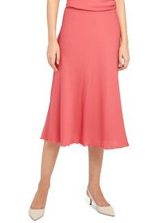 Theory Ruffled Silk Midi Skirt