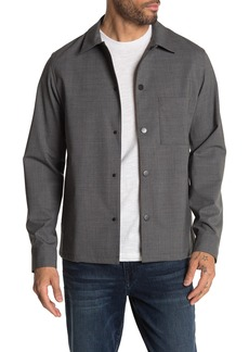 Theory Rye Virgin Wool Blend Overshirt Jacket