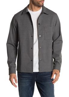 Theory Rye Virgin Wool Blend Overshirt Jacket