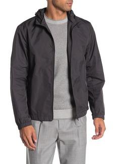 Theory Samuel Tech Gingham Zip Hood Jacket