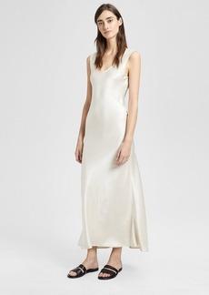 Theory Sateen Cowl Back Midi Dress