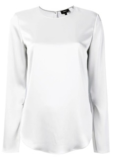 Theory satin blouse