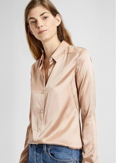 Theory Satin Perfect Fitted Shirt