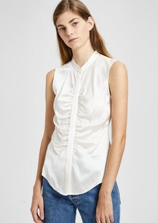 Satin Ruched Fitted Top