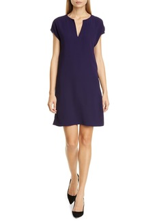 Theory Saturnina Split Neck Shift Dress
