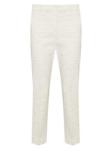 Theory Sharkskin Crunch Slim Crop Trousers