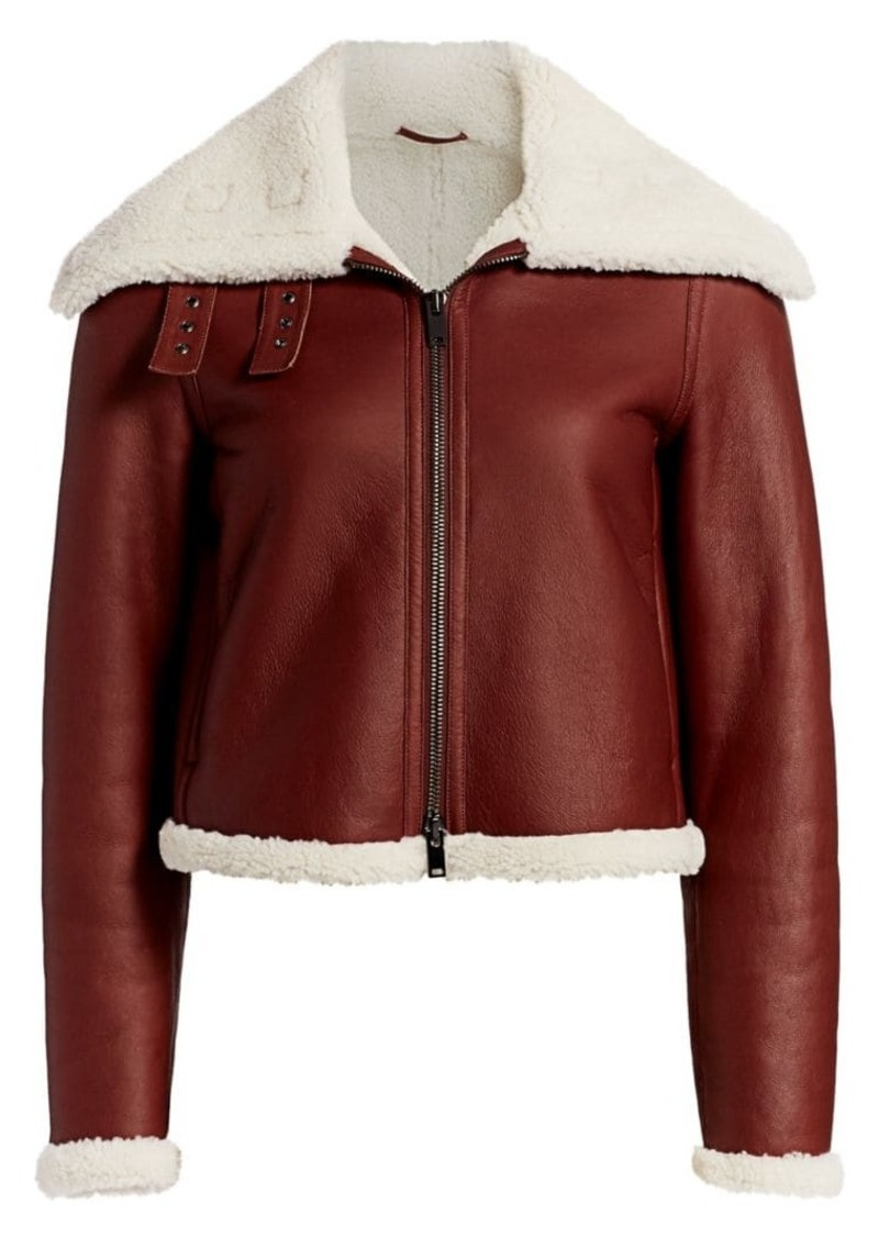 Theory Shearling Moto Jacket