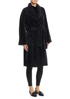 Theory Shearling Robe Coat