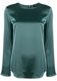 Theory sheen boxy blouse