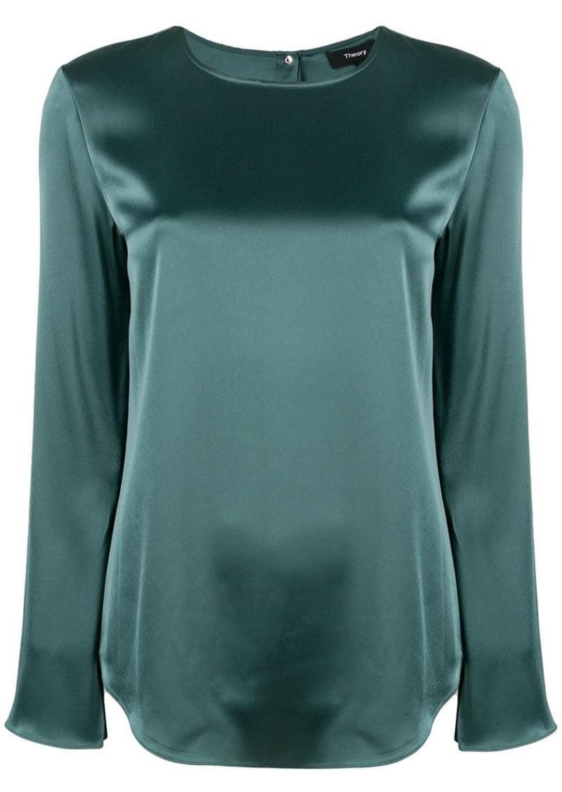 Theory sheen boxy blouse