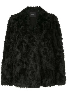 Theory short faux fur jacket