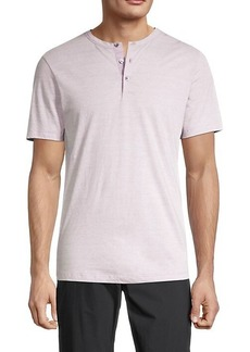Theory Short-Sleeve Cotton Henley