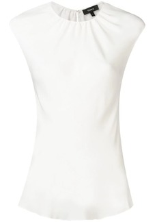 Theory short-sleeve fitted blouse