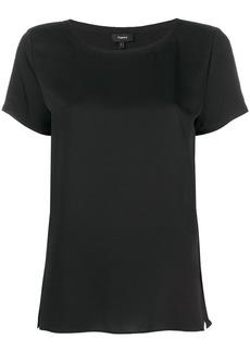 Theory short-sleeve shift blouse