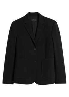 Theory Knit Shrunken Blazer