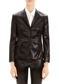 Theory Shrunken Vegan Leather Blazer