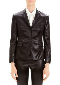 Theory Shrunken Vegan Leather Blazer