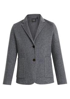 Theory Double-Faced Shrunken Wool-Blend Blazer