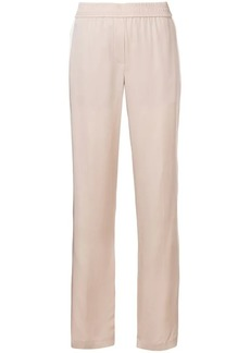 Theory side stripe straight trousers