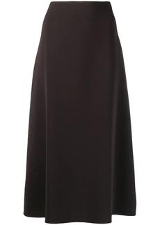 Theory side-zipped midi skirt