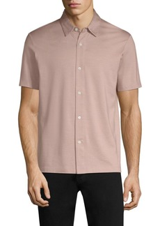 Theory Silk Blend Button-Down Shirt