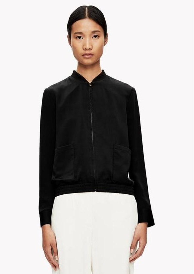 Theory Silk Bomber Jacket