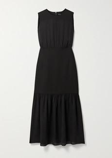 Theory Silk-crepe Midi Dress