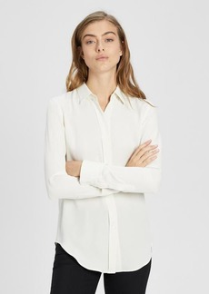 Theory Silk Essential Button-Down