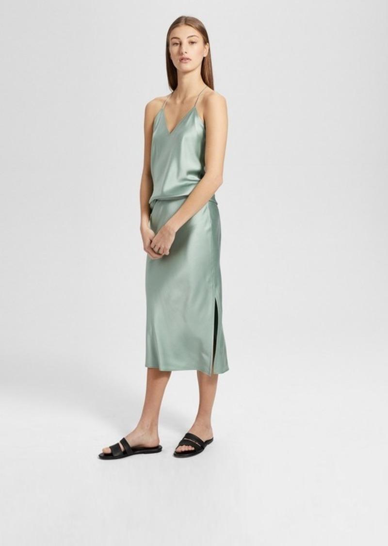 ba7f183af316 Theory Silk Satin Pull-On Slip Skirt | Skirts