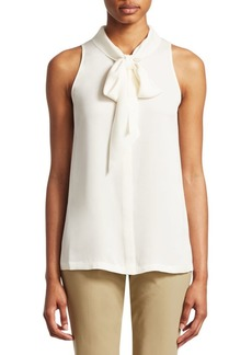 Theory Silk Scarf Top