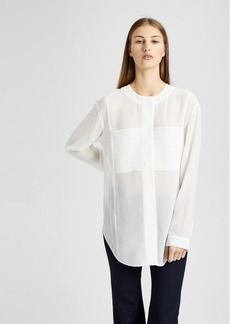 Theory Silk Seersucker Tunic