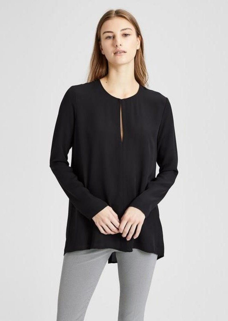 Theory Silk Slit Front Tunic