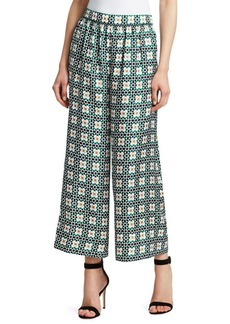 Theory Silk Smocked Culotte Pants