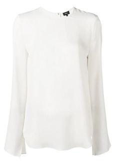 Theory silk split sleeve blouse