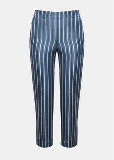 Theory Silk Stripe Pull-On Trouser