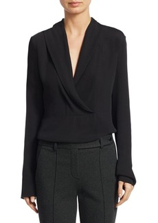 Theory Silk Surplice Blouse