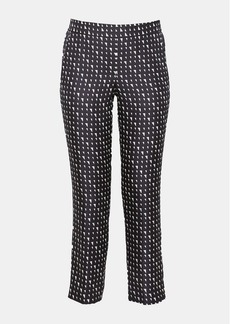 Theory Silk Triangle Print Pull-On Trouser