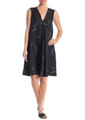 Theory Silk V-Neck A-Line Shift Dress