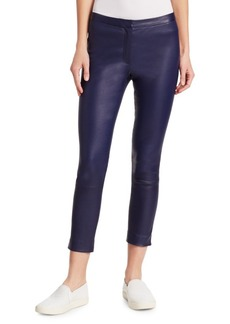 Skinny Crop Bristol Leather Pants