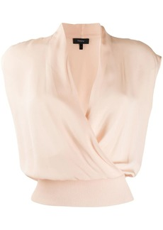Theory sleeveless draped top