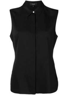 Theory sleeveless fitted blouse
