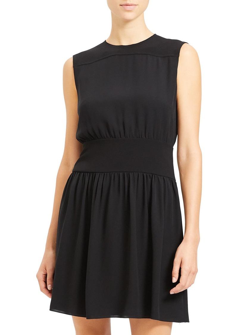 Theory Sleeveless Georgette Blouson Dress
