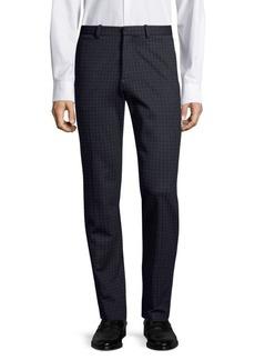 Theory Slim-Fit Check Ponte Pants